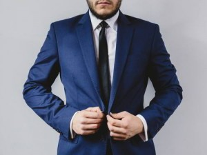 Man in a suit for an interview
